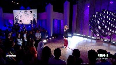 """Fergie: """"Little work"""" sur la scène de Quotidien (exclu web)"""