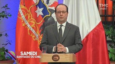 François Hollande chill au Chili