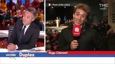 Hugo Clément s'invite au meeting de Laurent Wauquiez dans l'Ain