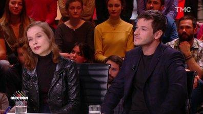 """Invités : Isabelle Huppert et Gaspard Ulliel pour le film """"Eva"""""""