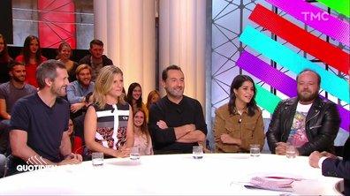 """Invités : l'équipe du """"Grand bain"""", Gilles Lellouche, Marina Foïs, Leïla Bekhti, Guillaume Canet et Alban Ivanov"""