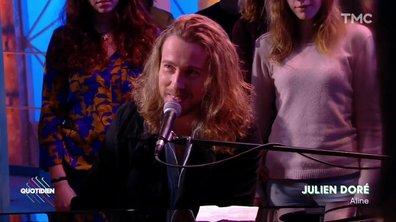 """Julien Doré : """"Aline"""" en live pour Quotidien"""