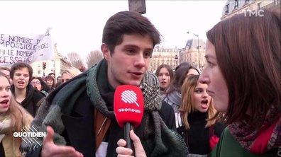 Mardi noir : les lycéens très mobilisés en France