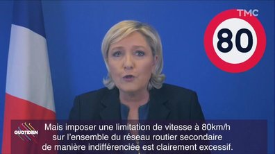 Marine Le Pen et la limitation de vitesse : l'hôpital qui se fout de la charité