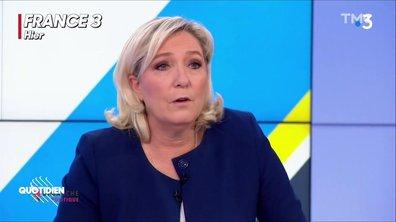 """Marine Le Pen n'a-t-elle vraiment jamais utilisé le terme de """"grand remplacement"""" comme elle le prétend ?"""