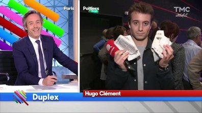 Au meeting de Fillon, Hugo Clément avait le Canard Enchainé... Erreur