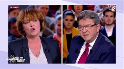 Mélenchon et son « punching ball » Nathalie Saint-Cricq