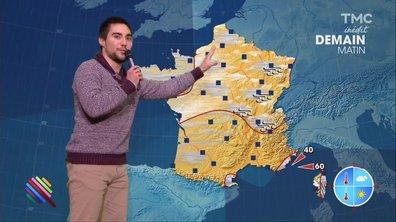 La météo du 05 décembre est présentée par Kevin