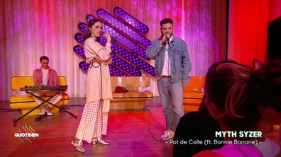 "Myth Syzer : ""Pot de colle"" (ft Bonnie Banane) en live pour Quotidien (exclu web)"