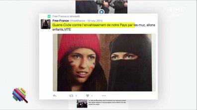 Le nettoyage des comptes racistes Twitter de Marine Le Pen