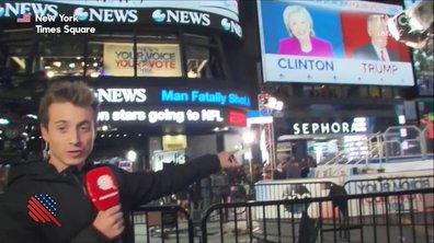 Hugo Clément en direct de Times Square