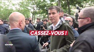 Olivier Faure à nouveau hué et exfiltré d'une manif
