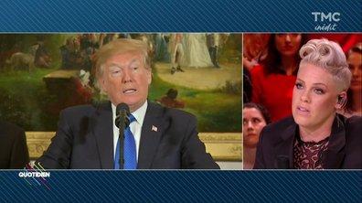 """Pink : """"Je n'ai pas les mots pour définir Trump"""""""