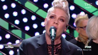 "Pink : ""What about us"" en live sur Quotidien"
