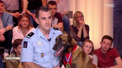 Invités : le pompier Laurent Siino et sa chienne Jerry Leen, récompensés aux Trophées des Chiens-Héros 2019