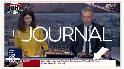 20h Médias : la disparition de Charles Aznavour vue par la presse