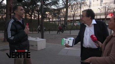 """Moment de vérité: Alain Finkelkraut pris à parti par le """"journaliste gilet jaune"""""""