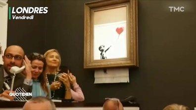 Chaouch Express: oeuvre auto-détruite de Banksy, coup de génie ou coup de com ?