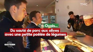 Emmanuel Macron, les jeunes et la cantine sans cordon bleu