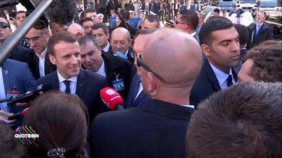 Emmanuel Macron rend hommage à Johnny