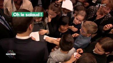 L'image du jour de Paul Larrouturou : La valise en kevlar d'Emmanuel Macron