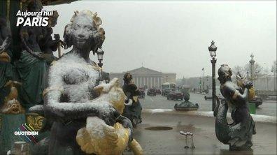 L'image du jour de Yann Barthès : il neige à Paris, panique dans les JT