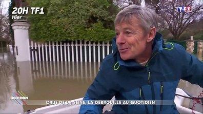 L'image du jour de Yann Barthès : Le témoin expert en inondations