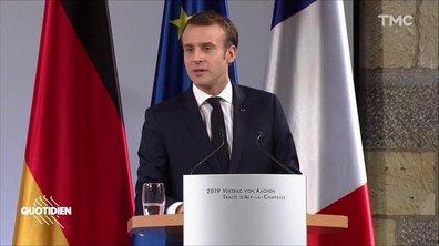 Aix-la-Chapelle : la phrase d'Emmanuel Macron qu'on n'a pas, mais alors pas du tout, comprise