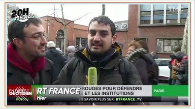 20h Médias : un journaliste de Russia Today pris à parti par un gilet jaune