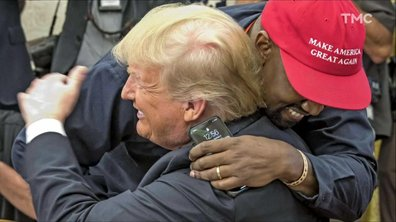 Zoom : le câlin de Donald Trump et Kanye West