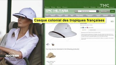 Zoom : le look colonial polémique de Melania Trump