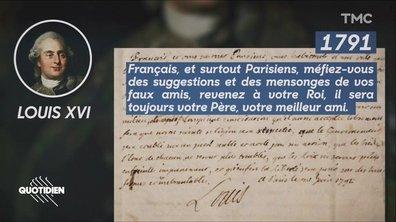 Zoom : Louis XVI, Napoléon ou Mitterrand aussi avaient écrit une lettre aux Français