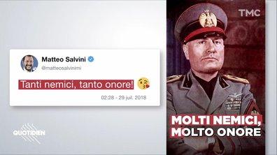 Zoom : Matteo Salvini se prend pour Mussolini