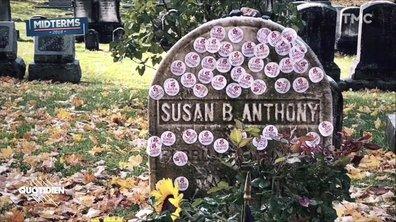 """Zoom : des stickers """"I voted"""" collés par centaines sur une tombe"""
