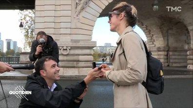 Quotidien s'incruste dans une demande en mariage