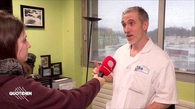 """Un tir de LBD """"c'est comme lâcher un parpaing sur votre visage à 1m de hauteur"""", explique le Dr. Thines"""