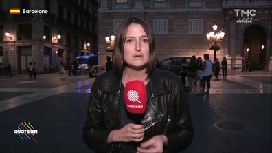 Valentine Oberti en direct du palais du gouvernement catalan à Barcelone