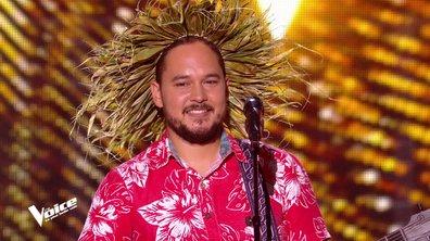 The Voice 2020 - Raimana fait voyager les coachs grâce à un chant traditionnel tahitien