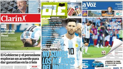 """""""La fin de la génération Messi"""", """"Pas de miracle"""" ... La presse argentine encore sous le choc après la défaite face à l'équipe de France"""