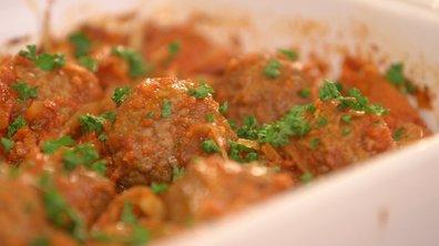 Boulettes de viande, sauce tomate au fenouil