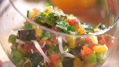 Ceviche de tomates et concombre