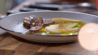 Foie gras poêlé aux endives et vinaigrette à la mangue