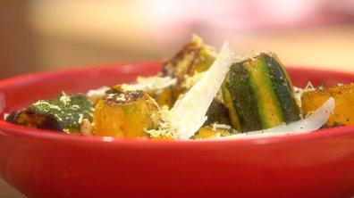 Salade de courgettes grillées à la tomme de chèvre