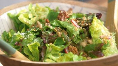 Salade et granola salé