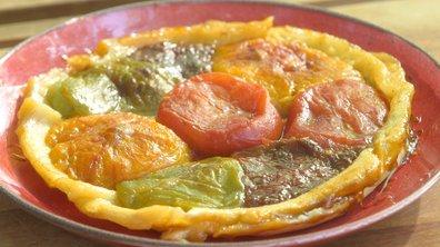Tatin de tomates multicolores à la vanille