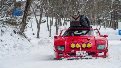 Insolite : Une Ferrari F40 fait du ski