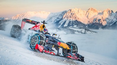 Insolite : Verstappen essaye sa Formule 1, Red Bull, sur la neige