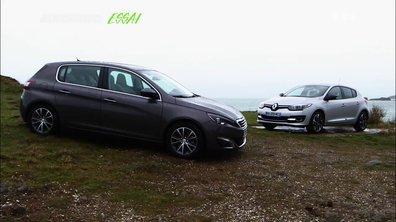 Essai Vidéo : Renault Mégane 2014 vs Peugeot 308