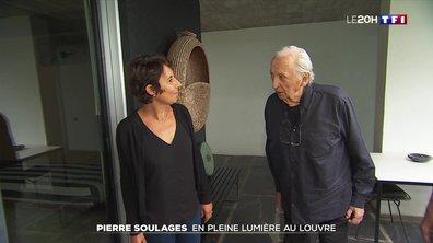 Rencontre avec Pierre Soulages, troisième peintre à entrer au Louvre de son vivant