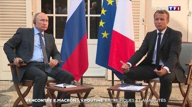 Rencontre entre Emmanuel Macron et Vladimir Poutine : entre piques et amabilités